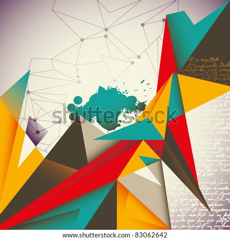 Illustrated abstract layout. Vector illustration.