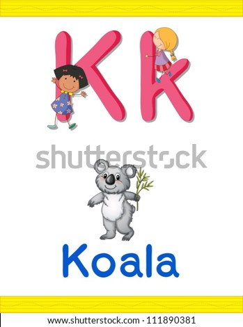 illustrated alphabet letter and