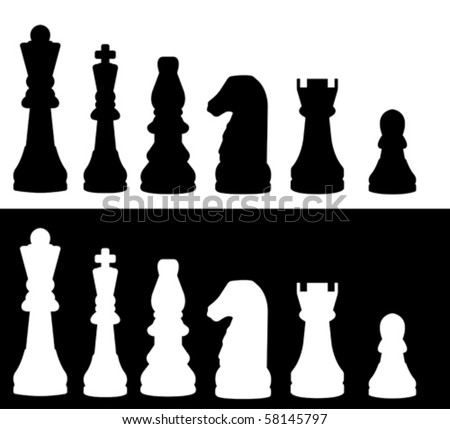 illustrated chess pieces