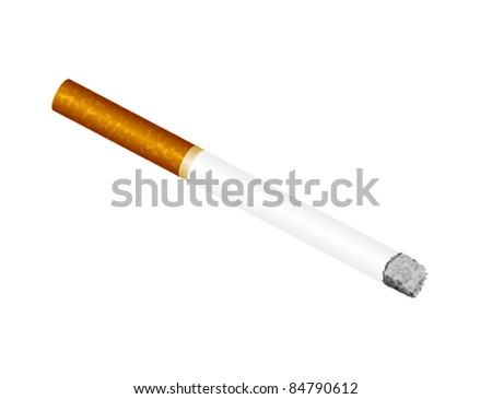Illustrated Cigarette - Vector Illustration. (high resolution JPEG also available).