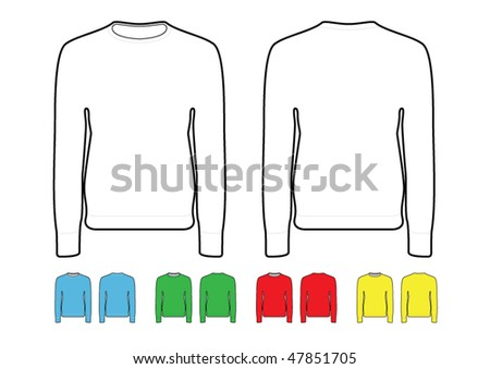 Crew Neck Sweater Template. crew neck jumper/ sweater