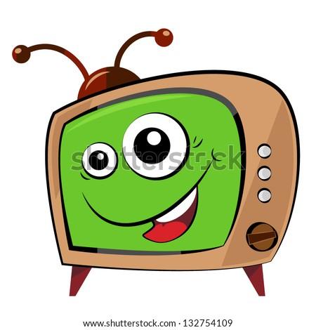 illustrated funny cartoon tv
