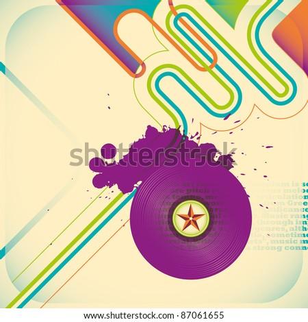 Illustrated music poster. Vector illustration.