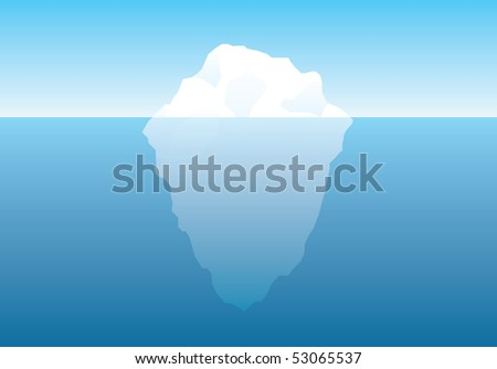 illustrated vector iceberg