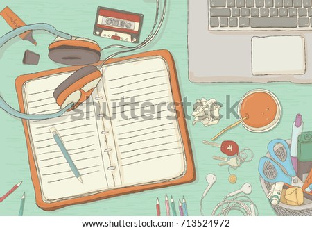 illustrated workplace
