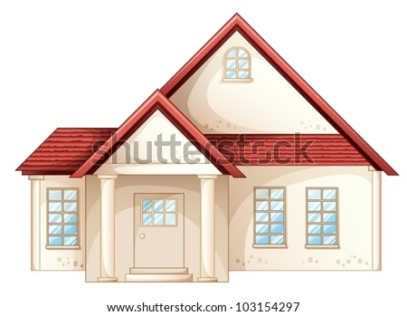 Illustration a simple house front view 103154297 for Simple house front view