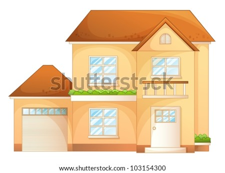 Illustration a simple house front view 103154300 for Simple house front view