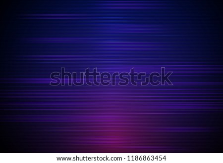 Illustration Abstract glowing, neon light effect, wave line, wavy pattern. Vector design communication techno on blue background. Futuristic digital technology for web or banner background