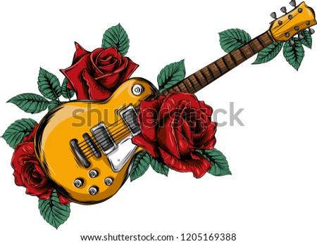 illustration abstract guitar