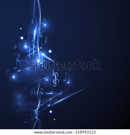 illustration abstract music