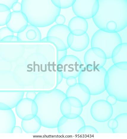 Illustration abstract soap ball - vector