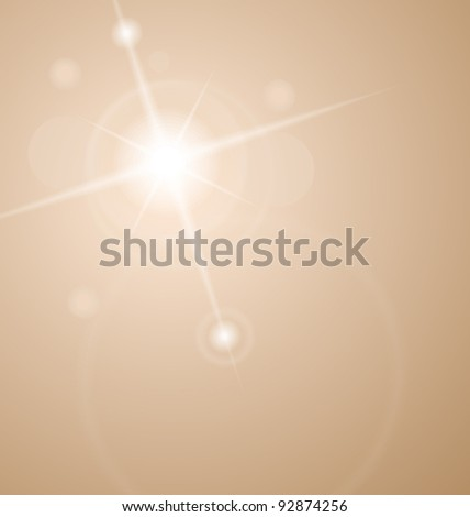 Illustration abstract star with lenses flare - vector