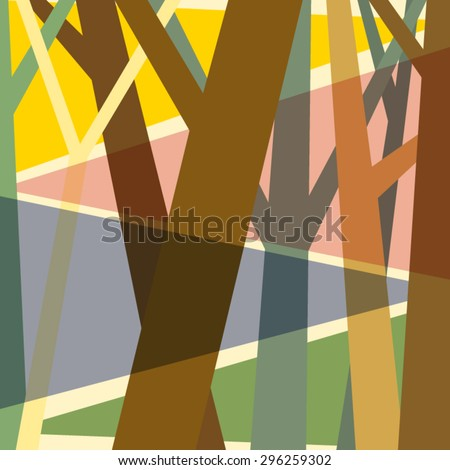 illustration abstract tree