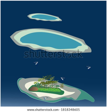 illustration aerial panoramic