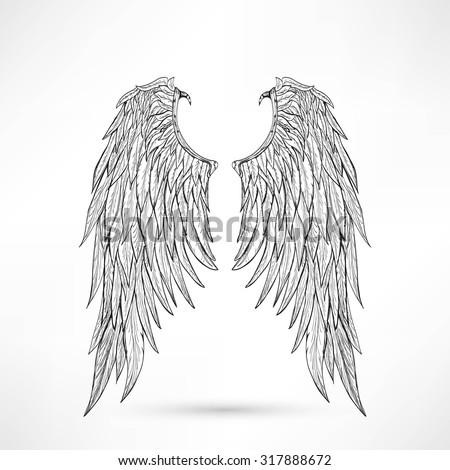 illustration angel wings