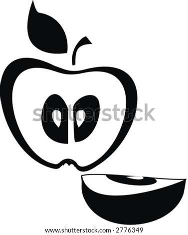 illustration  apple logo