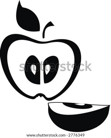 illustration  apple logo