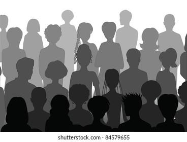 Stock Vector Illustration:  Audience