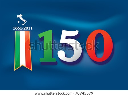 illustration background that celebrate the anniversary of the Italian unification