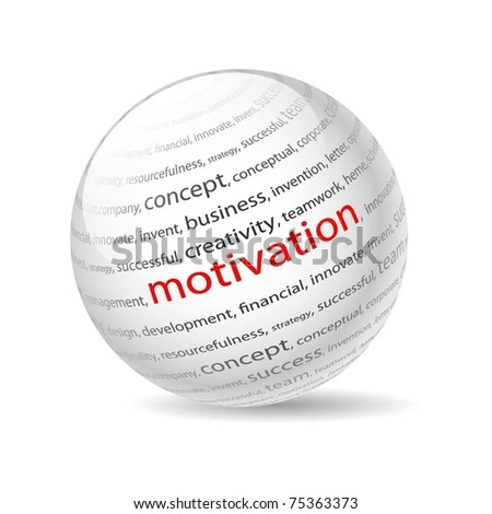 Illustration  ball with inscription motivation, on a white background. Vector.