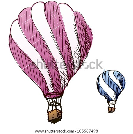 Illustration balloon color
