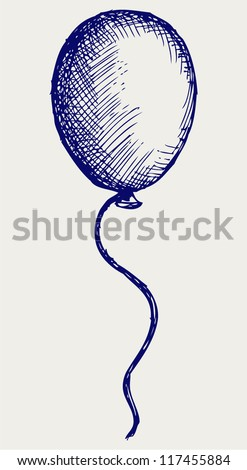 Illustration balloon. Doodle style