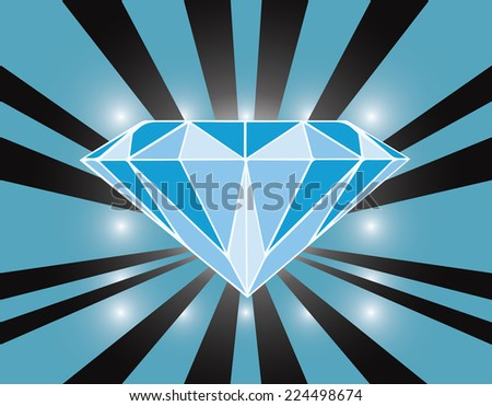 illustration  blue diamond