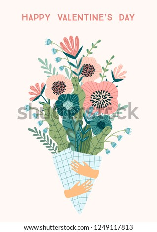 illustration bouquet of flowers