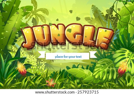 illustration cartoon jungle