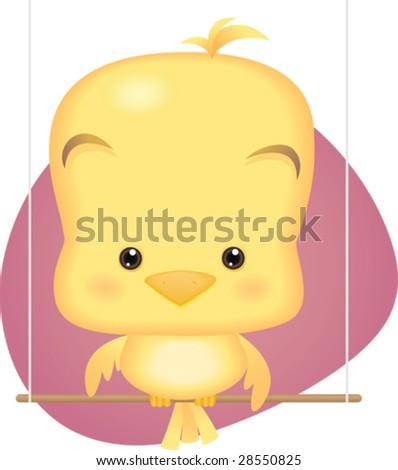 Cute baby cartoon birds - photo#27