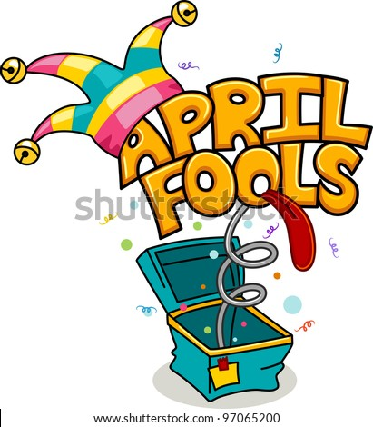 Illustration Celebrating April Fools' Day