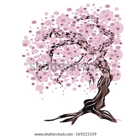 illustration   cherry tree