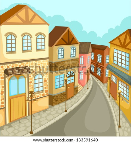 illustration cityscape vector