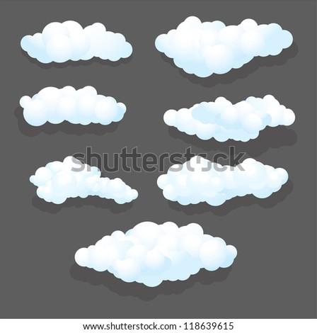 illustration Clouds Set - stock vector