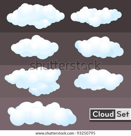 illustration clouds set