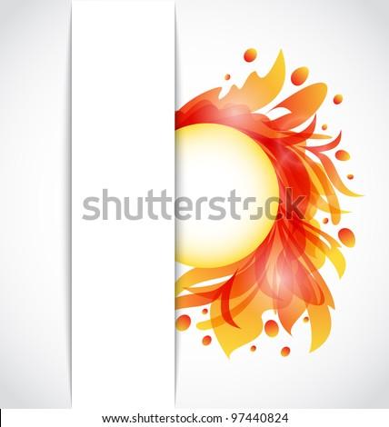 Illustration colorful floral transparent background - vector - stock vector