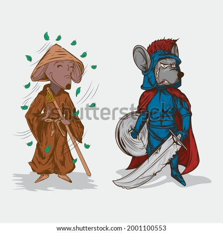 illustration combination of