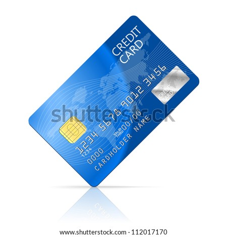 Illustration Credit Card Icon Isolated on white