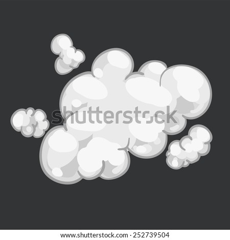 illustration 2d smoke dust