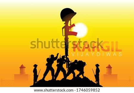 illustration design for Kargil Vijay Diwas and creative design