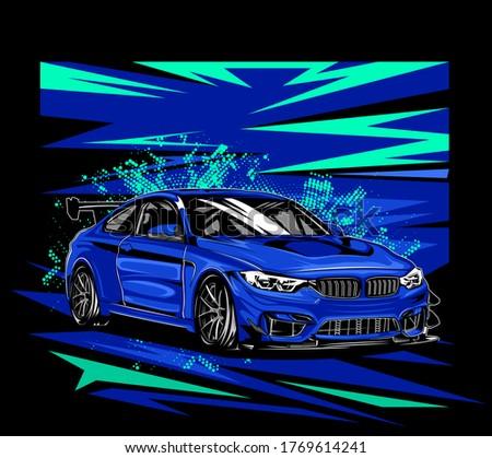 illustration design of a speed