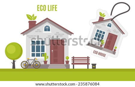 Eco House Clip Art
