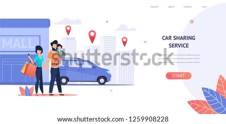 illustration family rent car