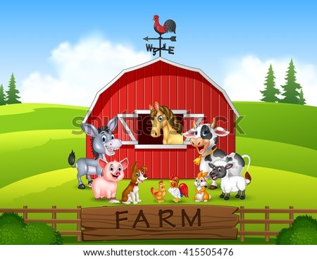 illustration farm background...