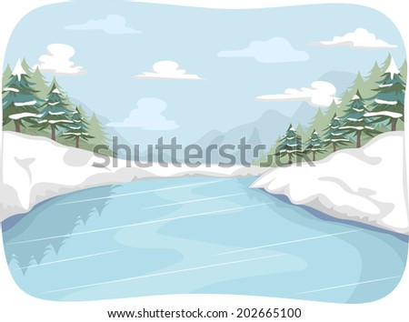 illustration featuring a frozen