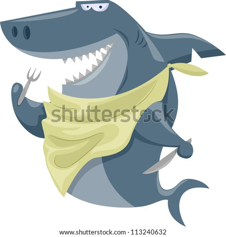 illustration featuring a shark