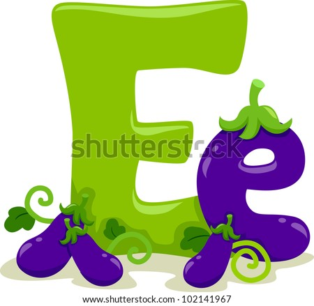 Illustration Featuring the Letter E