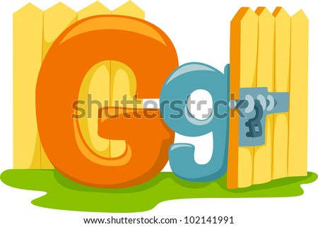 Illustration Featuring the Letter G