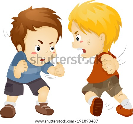illustration featuring two boys