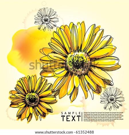 Illustration Flower Background